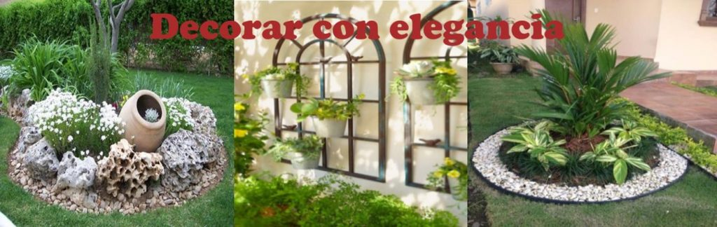 Podemos decorar nuestro jardin por pequeño que sea con elegancia y gusto deforma barata y sin grandes costes.