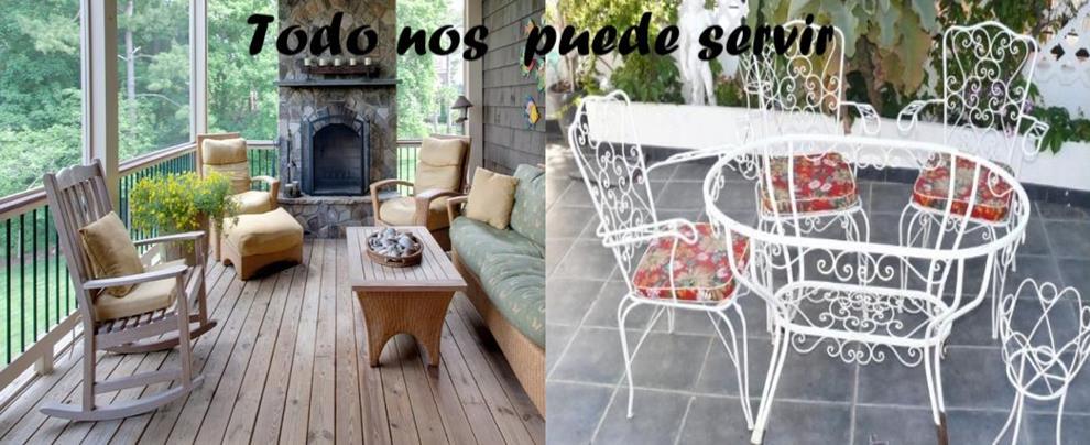 Cualquier mueble viejo nos puede servir para restaurarlo y colocarlo con gusto en nuestra terraza.