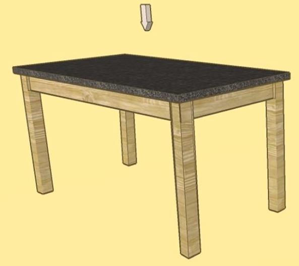 como hacer mesa rustica