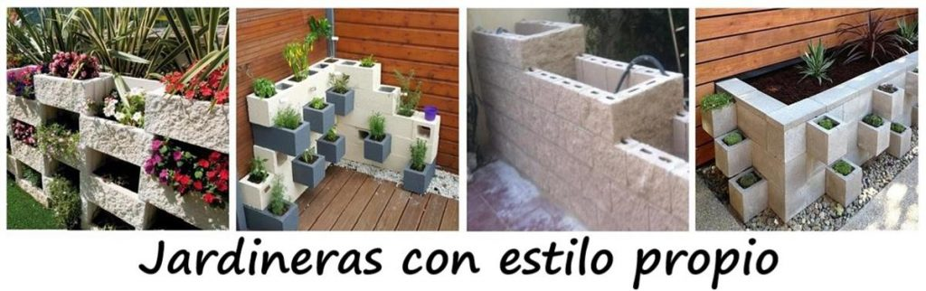 jardineras de obra rectangulares