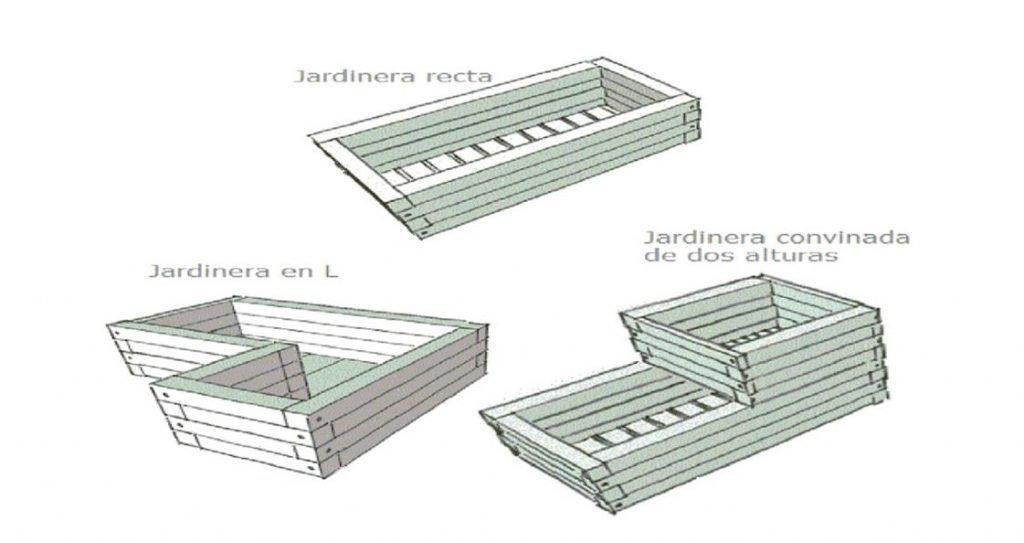 diferentes formas de jardineras de madera
